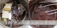 Din bucătăria mea: Tort de ciocolata cu crema de lapte No Bake Cake, Cake Recipes, Caramel, Ice Cream, Sweets, Baking, Desserts, Food, Sweet Treats
