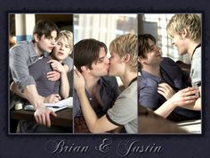 Brian Kinney & Justin Taylor. My favorite gay couple on tv. Your argument is invalid. And yes I still think they were hot together.