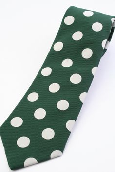 8500Amazon.co.jp: (ウィンザーノット アルバートアベニュー) Windsorknot Albert Avenue David 暗い緑&オフホワイト コインドット ネクタイ Green&Frosty jg13297f: 服&ファッション小物通販