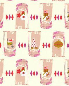 Tinsel - Holiday Glasses - Cream