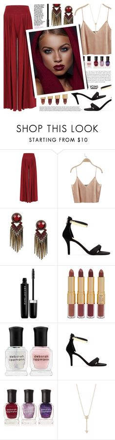 """""""Yoins #10"""" by tasnime-ben ❤ liked on Polyvore featuring Marc Jacobs, tarte, Deborah Lippmann, EF Collection, yoins, yoinscollection and loveyoins"""