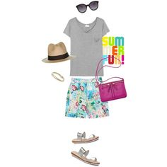 A fashion look from December 2014 featuring Yves Saint Laurent t-shirts, Forever New shorts and Kate Spade sandals. Browse and shop related looks.