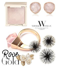 """rose gold"" by didi-l-alvarado ❤ liked on Polyvore featuring Gucci, Monica Vinader and Jouer"