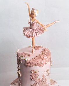 Image may contain: 1 person Ballet Birthday Cakes, Ballet Cakes, Dance Cakes, Ballerina Cakes, Ballerina Birthday, Beautiful Birthday Cakes, Gorgeous Cakes, Homemade Birthday Cakes, Barbie Cake