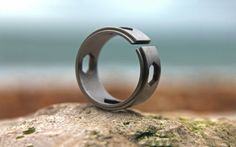 """Ti Hex-Bit Driver Ring submitted by Everyday Carry  """"This adjustable titanium band not only looks great its perfect for guys who normally skip jewelry because its strictly decorative. Thats because this ring doubles as a driver for any 1/4 hex bit. The set includes the ring 4 hex bits and..."""" (via TheAwesomer)  Read More"""