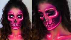 Neon Skull Tutorial | Halloween Make up