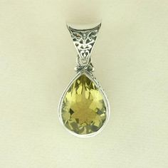 Sterling silver golden topaz pendant - Silver jewelry - Jewel of the Lotus $140