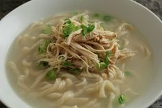 Chicken noodle soup from scratch (Dak-kalguksu) recipe - Maangchi.com (includes home made hand cut noodles)