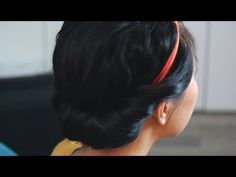 The Princess Roll Hairstyle Tutorial - The Vintage Headband Roll is a classic, and so easy to do with a Lilla Rose headband!