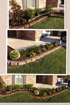 Front Yard Garden Design 45 Best and Cheap Simple Front Yard Landscaping Ideas 28 - 45 Best and Cheap Simple Front Yard Landscaping Ideas 29 Flower Bed Edging, Front Flower Beds, Flower Borders, Diy Garden, Garden Beds, Yard Edging, Paver Edging, Stone Edging, Brick Edging