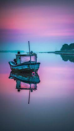 Fishing boat at sunrise  source Flickr.com