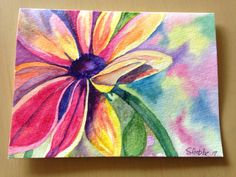 Watercolour card done in Mexico