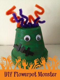 Halloween Craft for Kids: DIY Flower Pot Monster