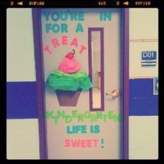 Youre-In-For-A-Treat-Cupcake-Door-Decoration-Idea - MyClassroomIdeas.com