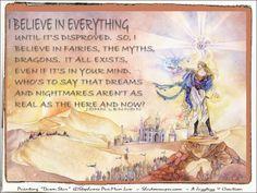 "i believe in everything / john lennon / painting ""dawn star"" ©2014 Stephanie Pui-Mun Law / shadowscapes.com / rx4h19nov2014b"