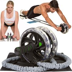 Pro Quality Ab Wheel With Free Soft Kneeling Mat Devoted Ab Roller Home Gym Exercise