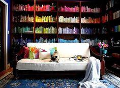 Color-coded bookshelves? What a novel idea!