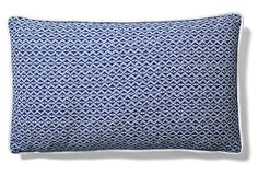 Equis 12x20 Cotton Pillow, Blue on OneKingsLane.com