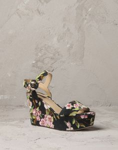 White printed-canvas wedge Women - Shoes Women on Online Store United States - Dolce & Gabbana Group