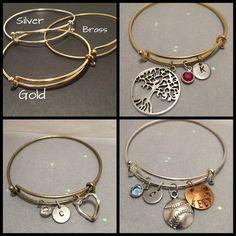 Create your own charm bracelet Add a charm bracelet Custom charm bracelet Personalized Bracelet Monogram or initial Bracelet Wedding Gift by HandmadewLovebyKCN on Etsy