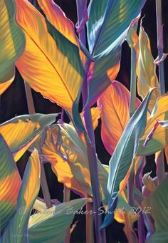 Tropical Flower Art Print Tropicana by ArtByJulene