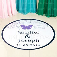 Personalized Favors - $23.99 - Personalized Butterfly PVC Dance Floor Decals (118033731) http://jjshouse.com/Personalized-Butterfly-Pvc-Dance-Floor-Decals-118033731-g33731