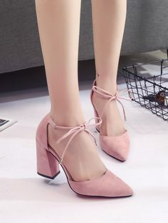 Cheap zapatos mujer tacon, Buy Quality high heel shoes directly from China heel shoes Suppliers: 2017 Spring New High Heels Shoes Fashion Pointed Suede Shallow Mouth Women Shoes Normal Size High zapatos mujer tacon Fancy Shoes, Pretty Shoes, Cute Shoes, Dr Shoes, Shoes Heels, Romwe, Lady Fit, Stiletto Heels, High Heels