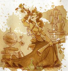 Earl Grey by Brian Kesinger via i09. Who doesn't love an adventurer named after a great tea?