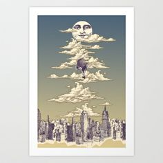Go Ballooning! A Vintage Poster Recently! Art Print by Barrett Biggers - $15.60
