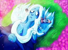 See more 'Steven Universe' images on Know Your Meme! Greg Universe, Steven Universe Comic, Universe Art, Blue Diamond Su, Blue Diamond Steven Universe, Pink Diamonds, Diamond Eyes, Fanart, Pokemon