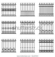 Fence Wall Design, Modern Fence Design, Steel Gate Design, House Layout Plans, House Layouts, Home Fencing, Compound Wall Design, Balcony Grill Design, Gates And Railings