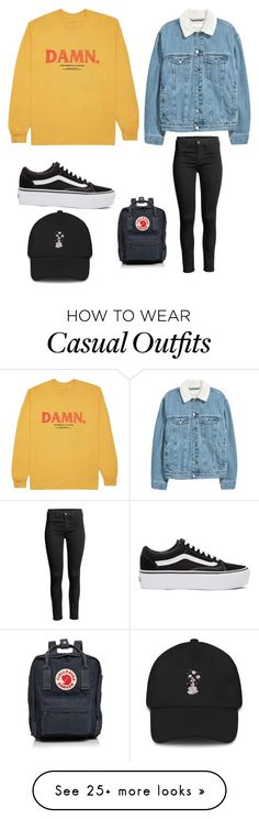 """Casual everyday"" by thaliafangon on Polyvore featuring KENNY, Vans and Fjällräven"