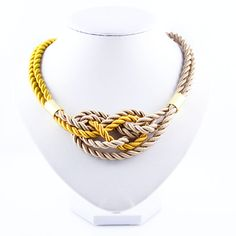 Shop Limited Edition Necklace from Apreciouz in Necklaces, available on Tictail from in Beije Rope Necklace, Necklaces, Ss16, Statement Jewelry, Gold, Jewellery, Jewels, Schmuck, Collar Necklace