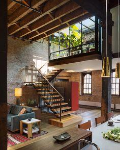 converted caviar warehouse in new york features sunken interior court