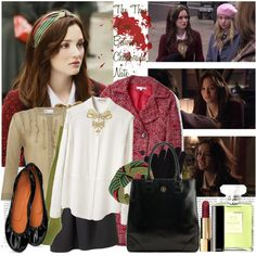 """""""The Thin Line Between Chuck and Nate - s01e13 - Blair"""" by thegossiplook on Polyvore"""