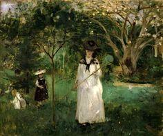 """Berthe Morisot - """"Chasing Butterflies"""" - 1874"""