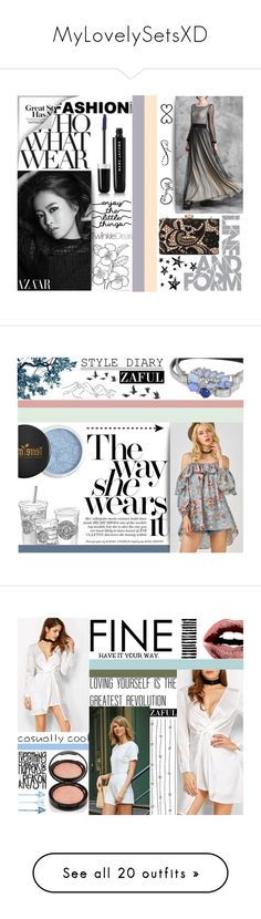 """MyLovelySetsXD"" by juromi on Polyvore featuring moda, WALL, Tattify, Who What Wear, trend, women, powerful, twinkledeals, Jayson Home i Camp"