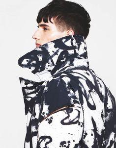 "justdropithere: "" Ian Sharp by Jason Kim - Tim Coppens F/W 13 "" Men Street, Street Wear, Jason Kim, Fashion Details, Fashion Design, Monochrome Fashion, Moda Fitness, Mens Fashion, Fashion Outfits"