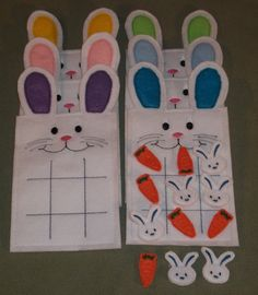 Easter Bunny Tic Tac Toe Board Game with by cabincraftycreations, $7.00