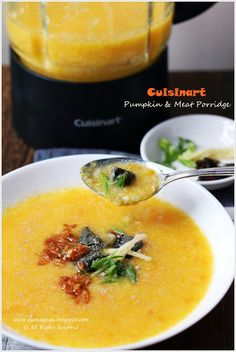 Pumpkin And Meat Porridge Using Cuisinart Hot And Cold Blender