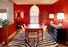 Red dining room walls photos of red dining rooms images red dining room decorating ideas . Decor, Dining Room Design, Dining Room Images, Room Colors, Red Dining Room, Red Rooms, Zebra Room Decor, Dining Room Walls, Dining Room Colors