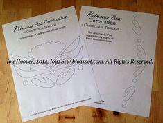 Elsa Coronation Cape PDF Stencil Template by joy2sew on Etsy, $3.50