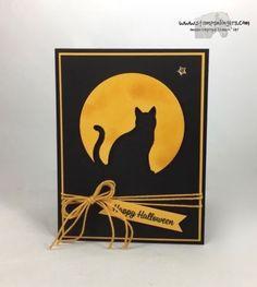 Stampin' Up! Cat Punch handmade Halloween Card