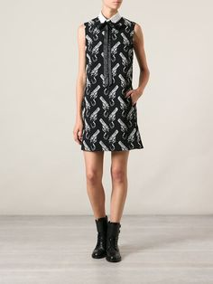 Saint Laurent Pistol Print Dress