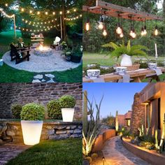 10 best outdoor lighting ideas & pro secrets to design beautiful path, patio, deck, garden & backyard with low voltage LED & solar landscape light fixtures! Best Outdoor Lighting, Lighting Ideas, Candle Lighting, Yard Lighting, Outdoor Projects, Garden Projects, Shade Plants Container, Shade Structure, Water Features In The Garden