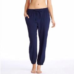 "Aerie Joggers Lightweight Joggers from Aerie  Perfect for your ""on the go"" day or dress it up with some pretty heels!  •Navy •100% Viscose •Elastic waist with drawstring •Size: XXS - would best fit 23-25 waist  NWOT aerie Pants Track Pants & Joggers"