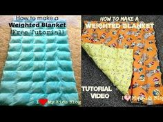 Have you looked into getting a weighted blanket but they are too expensive? Learn how to make your own in this weighted blanket video tutorial. It's easy!