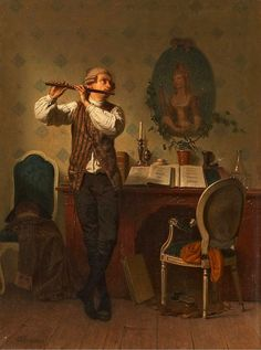 Interior with Flute Player by Georg Reimer (German Renaissance Music, Baroque Painting, Early Music, Music Artwork, Ad Art, Instruments, Jolie Photo, Fine Art, Portrait Art