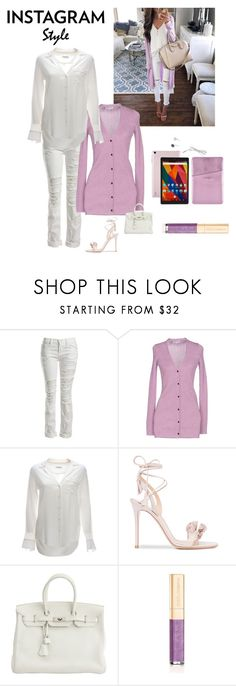 """""""Instagram Style"""" by kotnourka ❤ liked on Polyvore featuring Sans Souci, Opening Ceremony, Equipment, Gianvito Rossi, Hermès, Dolce&Gabbana, 60secondstyle and PVShareYourStyle"""