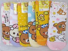 San x Rilakkuma Relax Bear Pair of Cotton Socks Your Choice of Designs Kawaii | eBay